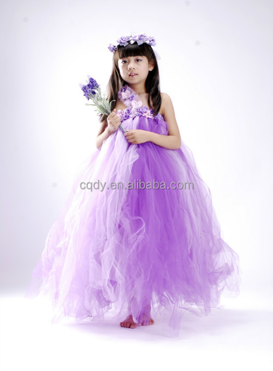 Floral wedding tulle dress dresses for girls of 10 year for 10 year old dresses for weddings