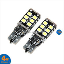 Canbus Error Free White 15SMD 2835 W5W T10 LED PCB Light Car Light Bulb 12V for Universal Cars