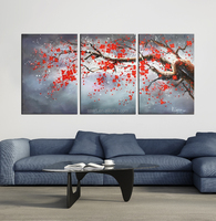 canvas flower wall pictures for living room