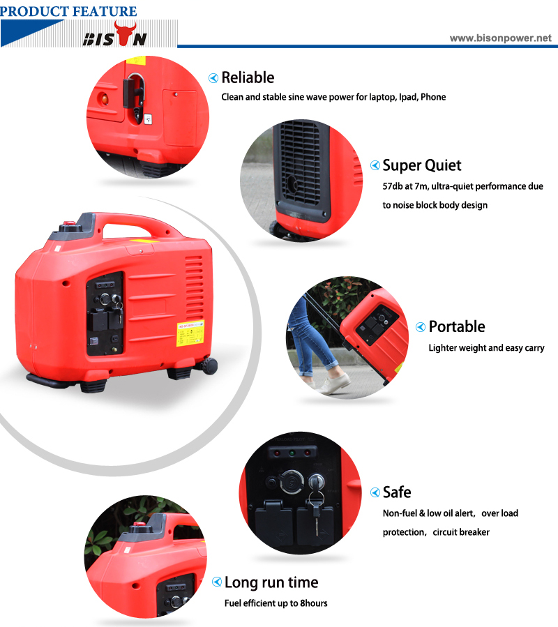3.1kw Super Quiet Camping Use Portable Inverter Generator BS-X3602 8