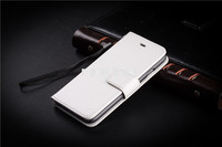 Magnetic Stand Mobile Phone Case Accessories PU Leather Flip Cover for iPhone 4 4S / 5C / 5S / 6 / 6 Plus with Crazy Horse Patte