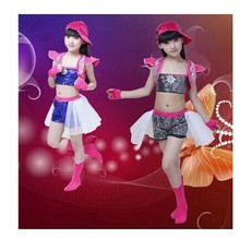 children costumes sequined girls modern jazz hip-hop dance performance clothing dance dress