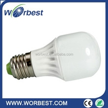LED ceramic light - E27 Warm White 3000K 3W Energy Saving 85-265V
