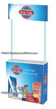 Custom Portable pop up promotion table for milk powder disply baverage soft drink promotional displays,promotional display stand