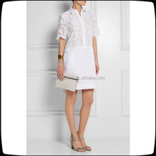 Breeson lace shirt dress