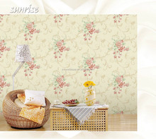flower wallpaper of embossing pvc wallpaper/big flower wallpaper for living room /home decoration.