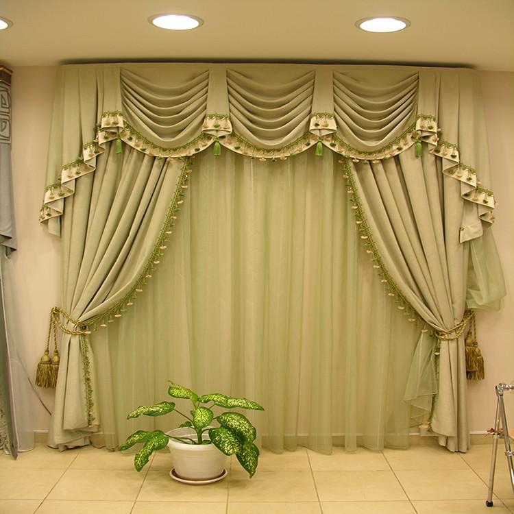 Decorative European Valance Design Sleeping Room Blackout