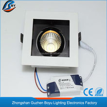 led cob new 2015 white square downlight 90*90 mm adjustable
