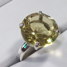 Yellow color ring Genuine stamp 925 semi precious gemstone wholesale