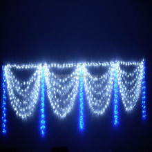 2015 new product outdoor waterproof super bright high quanlity multi color led curtain light