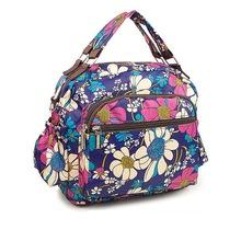 2015 cheap fabric floral handbag handbag logo plate ladies handbag sets made in China