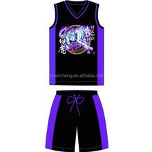 New Style Wholesale Men's Printed Basketball Wear, Basketball Jersey, Basketball Uniform