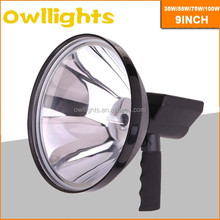 9inch 100w HID Handheld Spotlight 12V 24V HID Hand Spot Light 100w 12v cigarette lighter powered light
