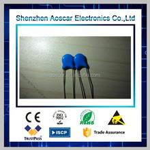 Blue ceramic capacitor 102 1kv
