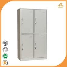 Storage quilt 4 Doors Metal Wardrobe for Changing Room bedroom furniture 4 door wardrobe