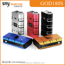 2015 high quality wholesale vaporizers Smy pen God 180s mod huge Vapor 220w wood box mod/