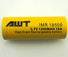 AWT 1200mAh Li ion Battery/18500 1200mAh Li ion Battery/3.7V 1200mAh Li ion Battery