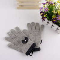 100% rabbit and wool magic knitting gloves