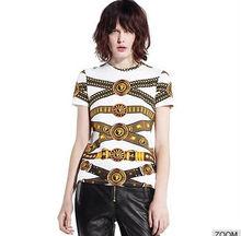 Nuevo 2014 dsign top de manga corta en blanco de la marca blanca a granel de algodón t- shirt