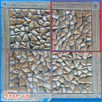 3D technology inkjet printing artificial stone look tiles with wood design