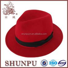 100% australian children wool felt waterproof cowboy hat with flat brim