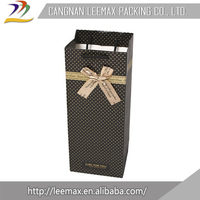 Wholesale Low Price High Quality 2 Bottle Gift Wine Paper Bag