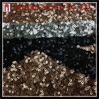 Black Taupe Two Tone Allover Sequins Fabric for evening and dance costume