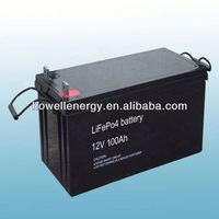 Lifepo4 lithium storage battery/battery for somar module 250watt