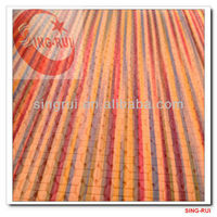 pu leather for decoration with weave design