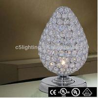 modern K9 crystal Strawberry shape table lamp for children gift