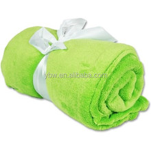 Green Color, Multiple Choice, Coral Fleece Blanket, Chinese Textile Suppliers