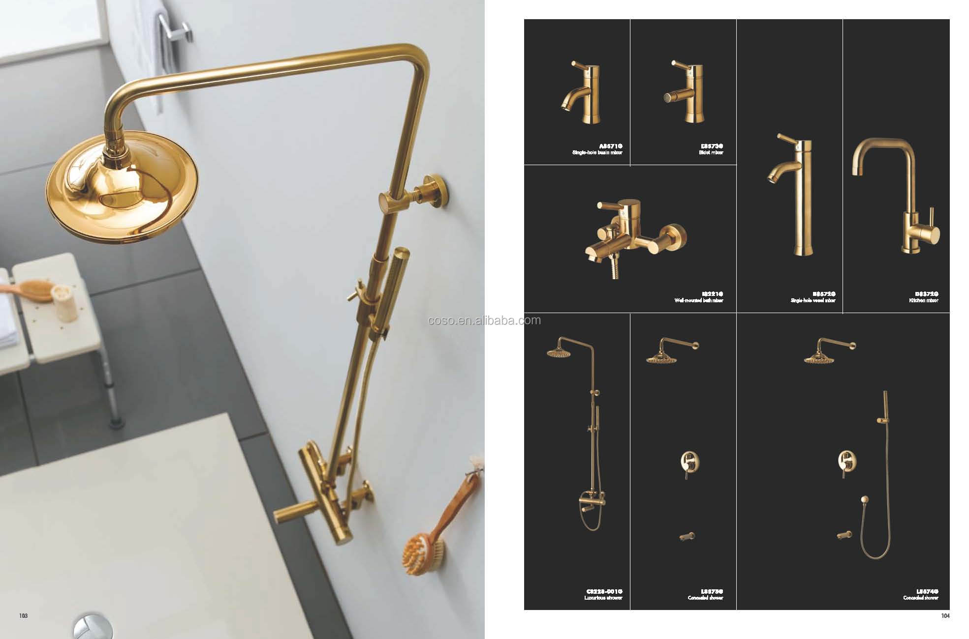 single handle gold bidet faucet 11/E8573G