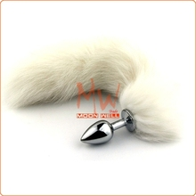 Fetish Anal Butt With Arctic Fox Tail - Small Size;butt plug tail;Sex toy;Adult product