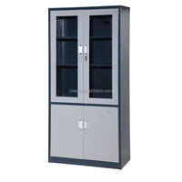 Luxury Home Office Furniture Storage Sliding Glass Door File Cabinet Metal Filing Chest Iron Cupboard