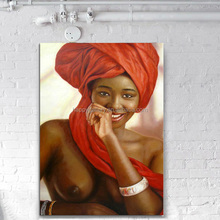 Handpainted Contemporary African Women Abstract Oil painting on Canvas