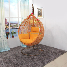 top selling garden swing chair metal mesh chair with cushion for adult