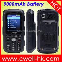 FKD A9000 Dual SIM Card Analog TV big sound 9000mAh Big Battery 2.4 inch screen mobile phone