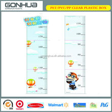 Waterproof Promotional Gifts Cheap Plastic PP Folding Height Of Children Measuring Ruler Lovely Growth Chart With Low MOQ