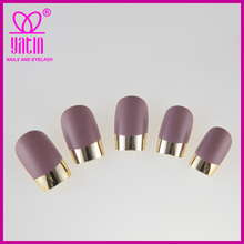 high quality Newest Metal fake nailtips, fresh purple Artificial Fingernail