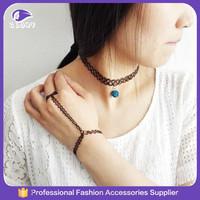 2015 popular plastic choker necklace/tattoo choker necklace/tattoo choker