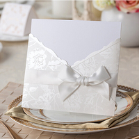 Wholesale and cheap laser invitation with decorate