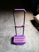 ZQ-T0607 trolley handle-purple color -Children's book bag tension bar/ Draw Bar