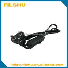 3 pin plug cable set with cord switch