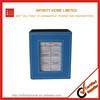 Blue delicate leather wood pen case desktop organizer pen holder