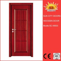 High quality swing style MDF interior solid wood door SC-W003