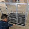 Modular Dog Cage With Wheels and Lock