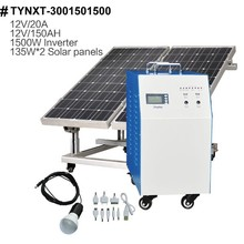 Off-grid 1500W solar power system for home