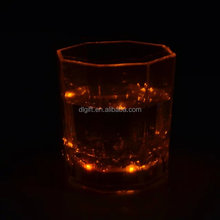 High qyality product led straw cup flashing plastic yard hot sales tall glass/flashing glow cup plastic/led light drinking