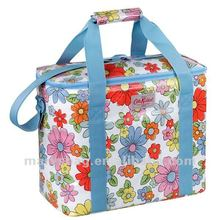 Thermally Insulated PVC Cooler Bag with Pretty floral Print