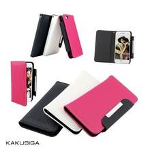 Kaku smart cover flip belt leather cover case for samsung note 4